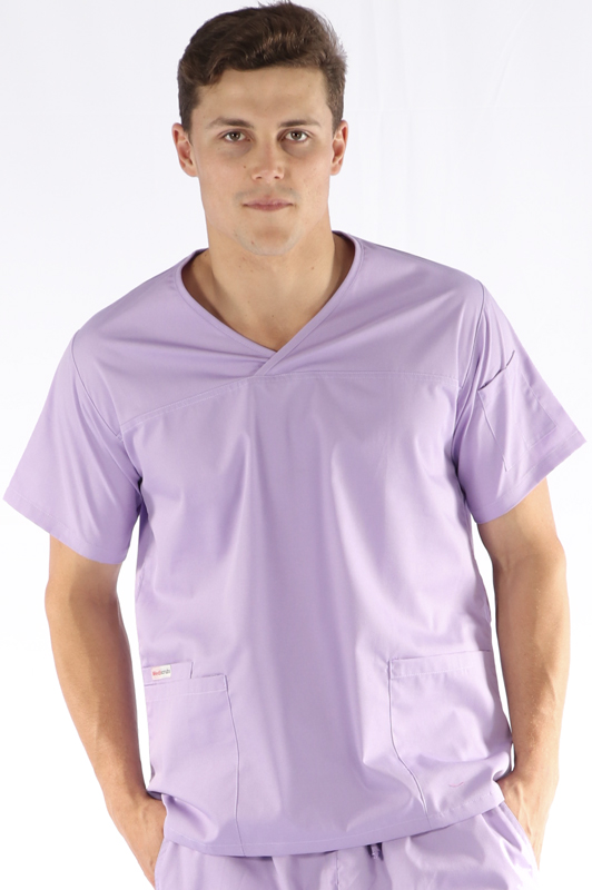 mens fit scrub top - lilac
