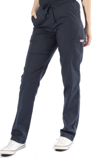 Navy cargo scrub pants