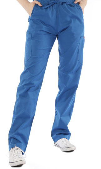 Royal Blue cargo scrub pants