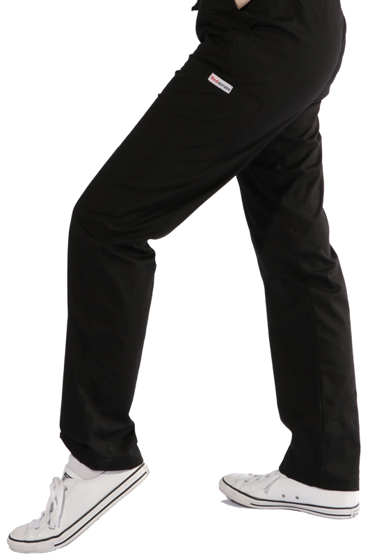Black cargo scrub pants