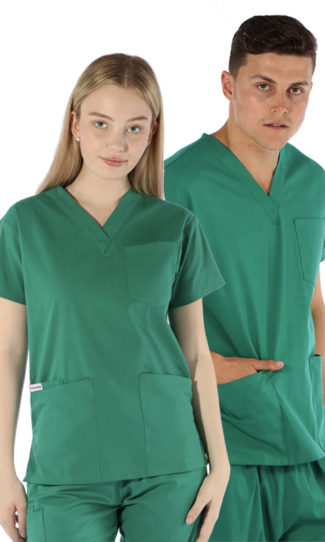 unisex-4-pocket-scrub-top-hunter-coloured-scrubs