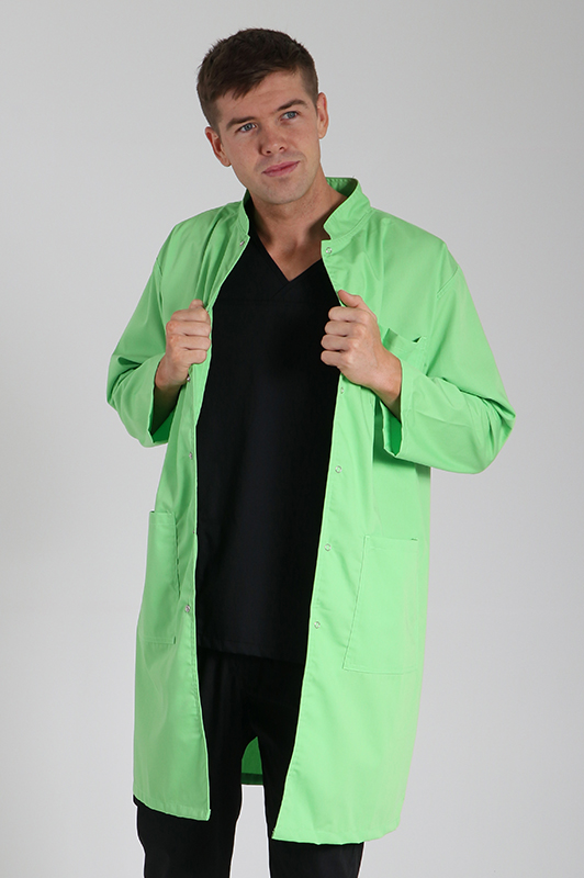 lime green military lab coat