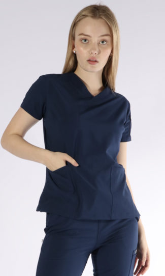 Scrubs Anonymous - Whisper collection - Scrub Top - Midnight Blue