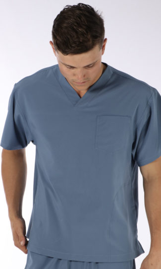 Scrubs Anonymous - Stealth collection - Scrub Top - Steel Blue