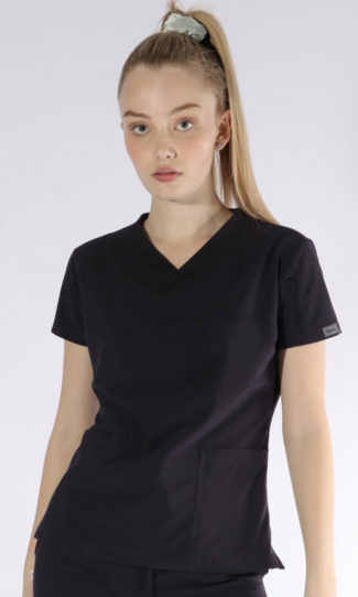 Scrubs Anonymous - Whisper collection - Scrub Top - Charcoal Navy