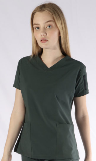 Scrubs Anonymous - Whisper collection - Scrub Top - forest green